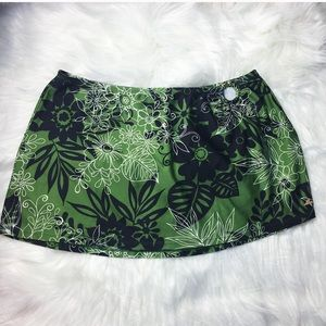 Catalina Green Leaf Swim Skirt